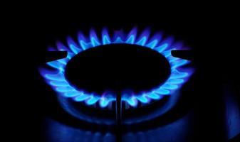 Gas stove fire photo