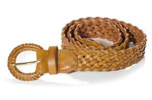 Belts on white background photo