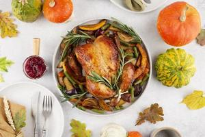 The thanksgiving day meal food photo