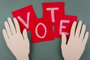 Top view paper style voting assortment photo