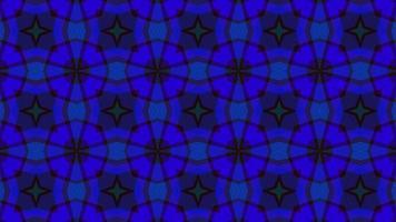 abstrakt mångfärgad symmetrisk bakgrund av geometriska former video