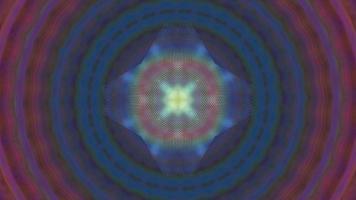 abstrakt fantasy lysande symmetrisk kalejdoskop bakgrund video