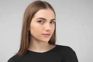 Portrait of charming beautiful  woman close up - Image photo