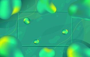 Gradient Fluid Green Background vector
