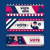Banners de la campaña electoral de EE. UU. vector