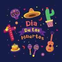 Dia De Los Muertos Cartoon Icon Pack vector