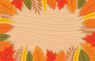 Wooden Floral and Leaf Background vector