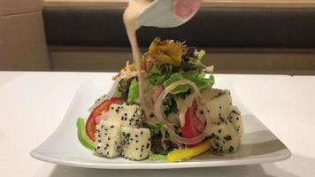 tofu salad in Japanese style video