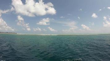 bewegen in de oceaan op de Malediven video