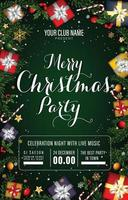 Christmas Party Poster Concept vector