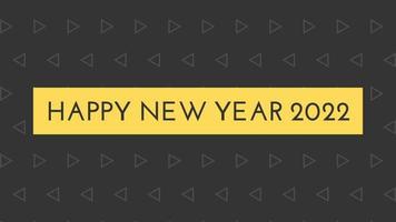 gelukkig nieuwjaar 2022 zwarte achtergrond met gekleurde lijnen en gelukkig nieuwjaar in de stijl van het middendisplay - gratis voor commercieel gebruik video