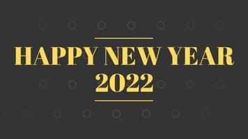 gelukkig nieuwjaar 2022 zwarte achtergrond met gekleurde lijnen en gelukkig nieuwjaar in de stijl van het middenstreepje - gratis voor commercieel gebruik video