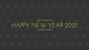 gelukkig nieuwjaar 2022 zwarte achtergrond met gekleurde lijnen en gelukkig nieuwjaar in de stijl van de middenlijnen - gratis voor commercieel gebruik video