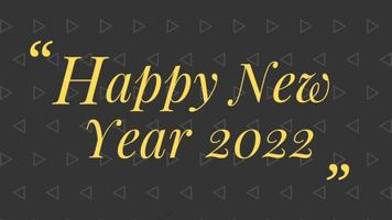 gelukkig nieuwjaar 2022 zwarte achtergrond met gekleurde lijnen en gelukkig nieuwjaar in de geciteerde stijl in het midden - gratis voor commercieel gebruik video