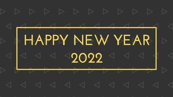 gelukkig nieuwjaar 2022 zwarte achtergrond met gekleurde lijnen en gelukkig nieuwjaar in het midden ingelijste stijl - gratis voor commercieel gebruik video