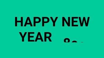 gelukkig nieuwjaar 2022 groen schermachtergrond met gekleurde lijnen en gelukkig nieuwjaar in de middelste nummerstijl - gratis voor commercieel gebruik video