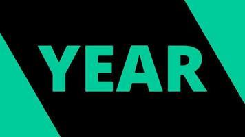 gelukkig nieuwjaar 2023 groen schermachtergrond met gekleurde lijnen en gelukkig nieuwjaar in het midden in onze stijl - gratis voor commercieel gebruik video