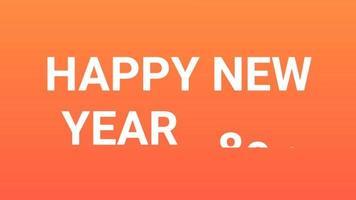gelukkig nieuwjaar 2023 gouden achtergrond met gekleurde lijnen en gelukkig nieuwjaar in de middelste nummerstijl - gratis voor commercieel gebruik video