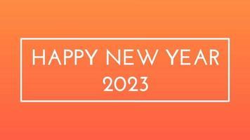 gelukkig nieuwjaar 2023 gouden achtergrond met gekleurde lijnen en gelukkig nieuwjaar in het midden ingelijste stijl - gratis voor commercieel gebruik video