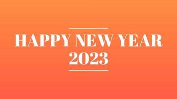 gelukkig nieuwjaar 2023 gouden achtergrond met gekleurde lijnen en gelukkig nieuwjaar in de stijl van het middenstreepje - gratis voor commercieel gebruik video