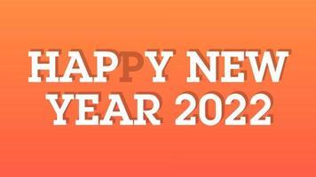 gelukkig nieuwjaar 2022 gouden achtergrond met gekleurde lijnen en gelukkig nieuwjaar in het midden stop motion-stijl - gratis voor commercieel gebruik video
