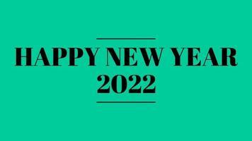 gelukkig nieuwjaar 2022 groen schermachtergrond met gekleurde lijnen en gelukkig nieuwjaar in de middenstreepstijl - gratis voor commercieel gebruik video