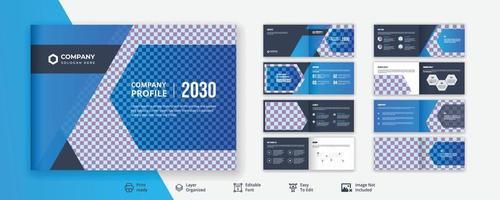 Corporate business agency landscape  brochure design or company profile vector