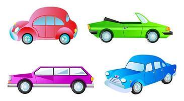 A Set of Generic Mixed Motor Car Vehicles vector