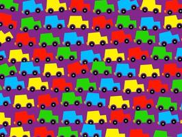 Kids Cute Car Traffic Wallpaper vector