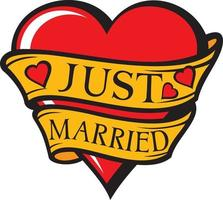 Just Married Heart vector