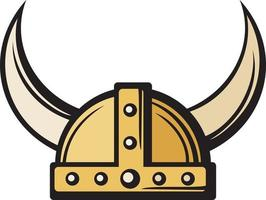 Viking Helmet Icon vector