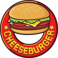 Cheeseburger Label Design vector