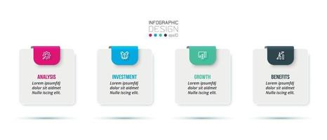 Business concept infographic template with option. vector