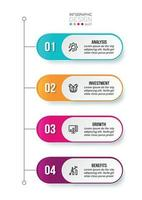 Business concept infographic template with workflow. vector