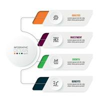 Business concept infographic template with diagram. vector