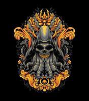 Octopus monster Illustration vector