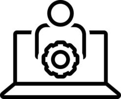 Line icon for user settings vector