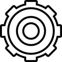 Line icon for setting vector