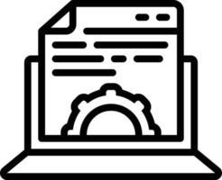icono de línea para la gestión de contenido vector