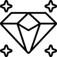 Line icon for diamond vector