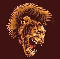 lion mohawk hair vector