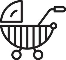 Line icon for stroller vector