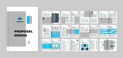 Design project Proposal, vector template brochures, flyers, presentations, leaflet, white paper, catalog, magazine a4 size. Dark grey and blue geometric elements on a white background