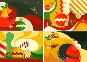 Set of christmas banners. Different postcards templates. vector