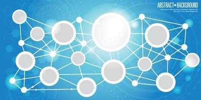 Abstract network connection on blue background vector