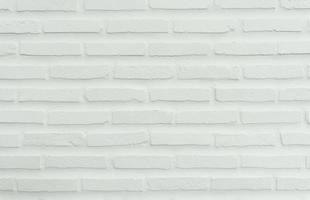 White concrete wall made of bricks for construction photo