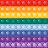 Pop it fidget bubbles in rainbow colors seamless pattern vector