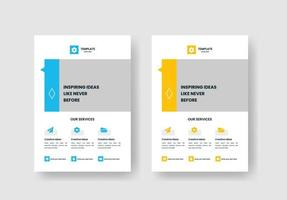 Minimal Corporate Business Flyer poster pamphlet brochure cover design layout background, two colors scheme, vector template in A4 size