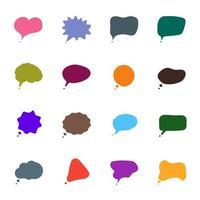 conjunto de 16 descripciones emergentes de colores, comentarios de cómics o globos de diálogo vector
