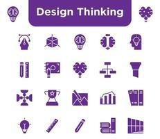 design thinking icon set element vector